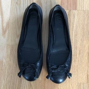 Cole Haan Ballet Flats - wing tip/bow detail - 7.5